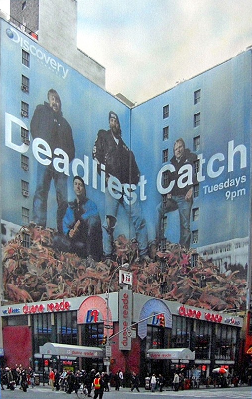 Hyperrealism painting Deadliest Catch billboard by Denis Peterson