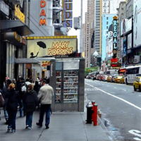 Hyperrealism painting Walkin' NY by Denis Peterson