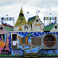 Hyperrealism painting Wacky Shack  by Denis Peterson
