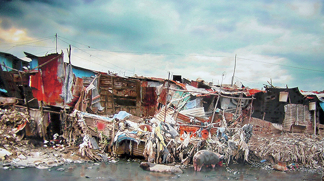 Hyperrealism painting of Haiti - Hard Luck and Pain by Denis Peterson